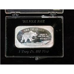 877. Save the Grizzly 1-Ounce Silver Collectors Bar.