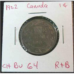 886. 1902 Canada Large Cent. Brown Unc.
