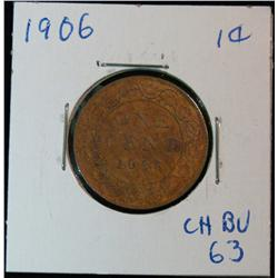 891. 1906 Canada Large Cent. Red BU.
