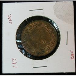 896. 1915 Canada Large Cent. Red & Brown Unc.