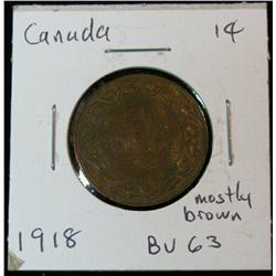 898. 1918 Canada Large Cent. Brown Unc.