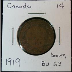 899. 1919 Canada Large Cent. Brown Unc.