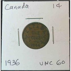 901. 1936 Canada Small Cent. Brown Unc.