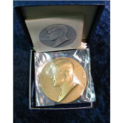 937. Large John F. Kennedy Bronze Inaugeral Medal.