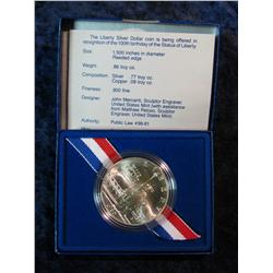 943. 1986D Statue of Liberty Silver Dollar. BU.