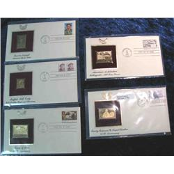 983. (5) 22K Gold Stamps First Day Covers 1982-1988