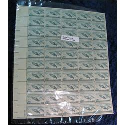 1154. Mint Sheet of 50 3c Wildlife Conservation Stamps.