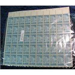 1157. Mint Sheet of 50 3c Makinac Bridge Stamps.