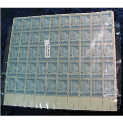 1158. Mint Sheet of 50 3c Makinac Bridge Stamps.