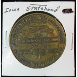 1184. 1997 Iowa Statehood Medal Bronze.