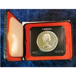 1197. 1972 Canada Silver Dollar. BU, Original as Issued.