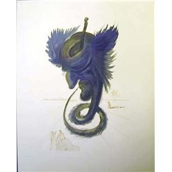 Dali Woodblock  The Black Cherub