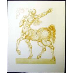 Dali Woodblock  The Centaur