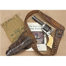 """Colt Single Action Army, used in the famous """"Santa  Claus Bank Robbery"""" circa 1927. The Santa Claus"""