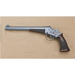 "Remington model 1901, .22 long rifle caliber  target pistol, 10"" barrel, full blued finish,  target"