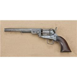Colt 1851 Navy (conversion) to .38 centerfire,  blue and case hardened finish, wood grips, US Navy