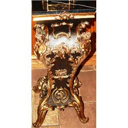 Bronze and Marble Pedestal