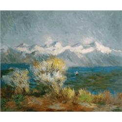 Monet - View of the Bay at Antibes and Maritime Alps