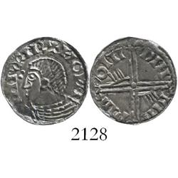 Ireland (Hiberno-Norse), penny, ca. 1035-60 AD, imitation of English Aethelred II Long Cross penny,