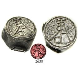 Small silver seal(?), Spanish colonial (1500s-1600s).