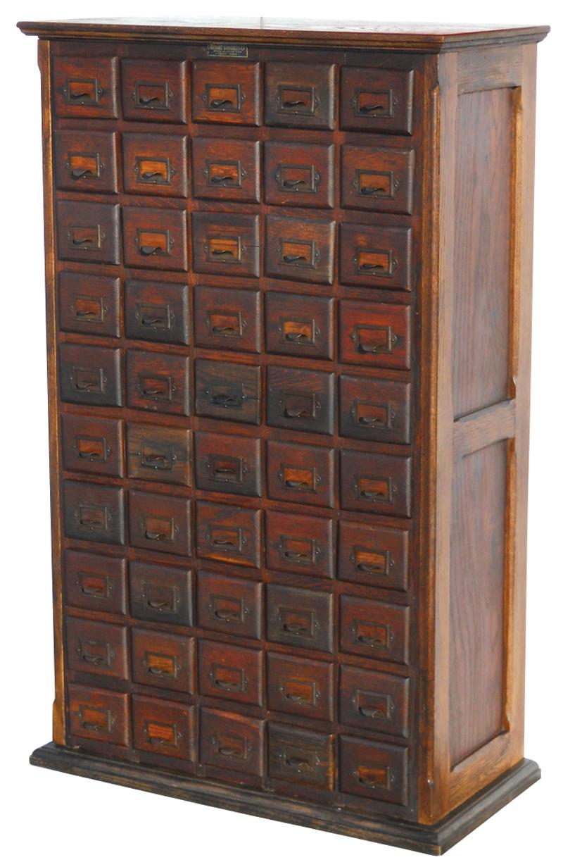Hardware cabinet w/orig Hobart Bros. Co. Stock & Office Files ...