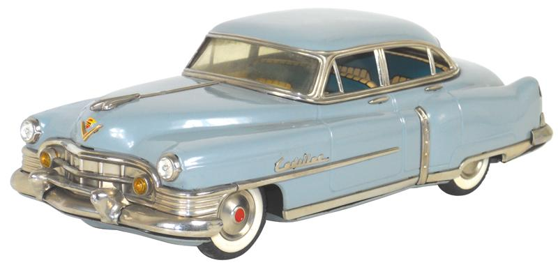 Toy Car 1951 Cadillac Sedan Mfgd By Marusan Toys Japan Pressed