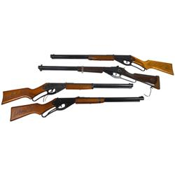 Daisy BB guns (4), Red Ryder Model 1938-Rogers, AR, Red Ryder Model 111-Plymouth, MI, Red Ryder 1938