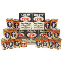 Country stock shelf stock, Babbitt's 1776 Soap Powder & Babbitt's Cleanser (25), new-old-stock full