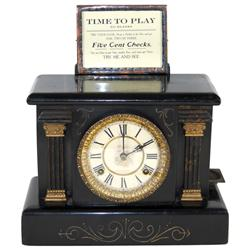 Coin-operated machine, Wizard Clock trade stimulator, mfgd by Loheide Mfg Co.-St. Louis, MO in 1907,