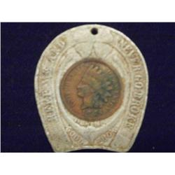 RARE Vintage Indian Head Store Token