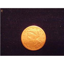 1887-S $5 Gold Liberty Coin