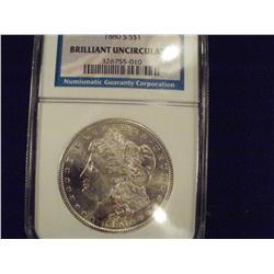 1880-S NGC Graded BU Morgan Silver Dollar, MS60