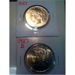 Key Dates1927 & 1927-D BU Silver Peace Dollars