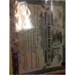 "Rare Old"" Bullion Monarch Mining"" Stock Certificate"