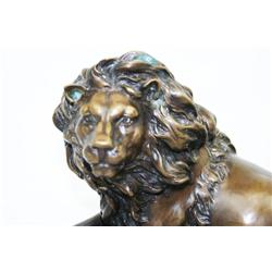 BRONZE LION STATUE BY BARYE