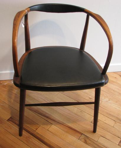 Mid Century Modern Wood Chair ~ Mid century modern bent wood arm chair