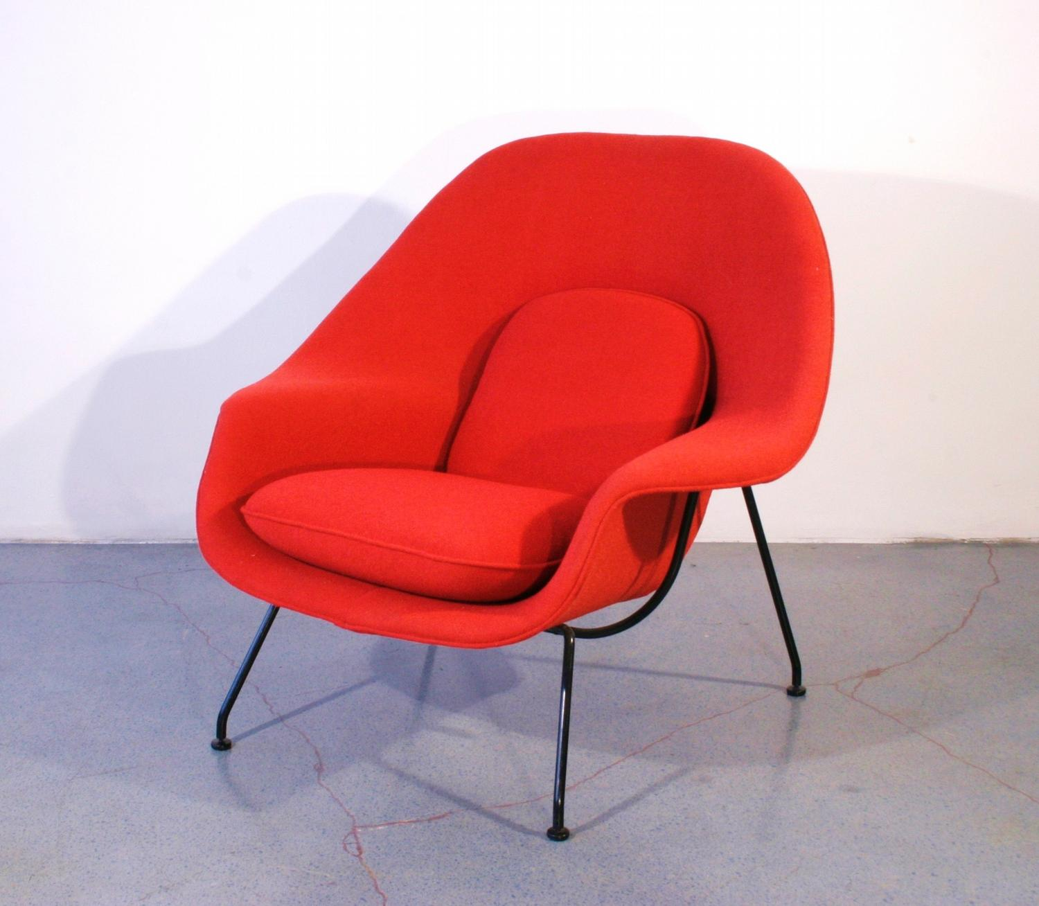 knoll womb chair midcentury womb chair and ottoman by eero