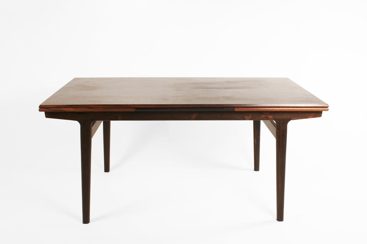Elegant Image 1 : Danish Rosewood Dining Table C. 1950