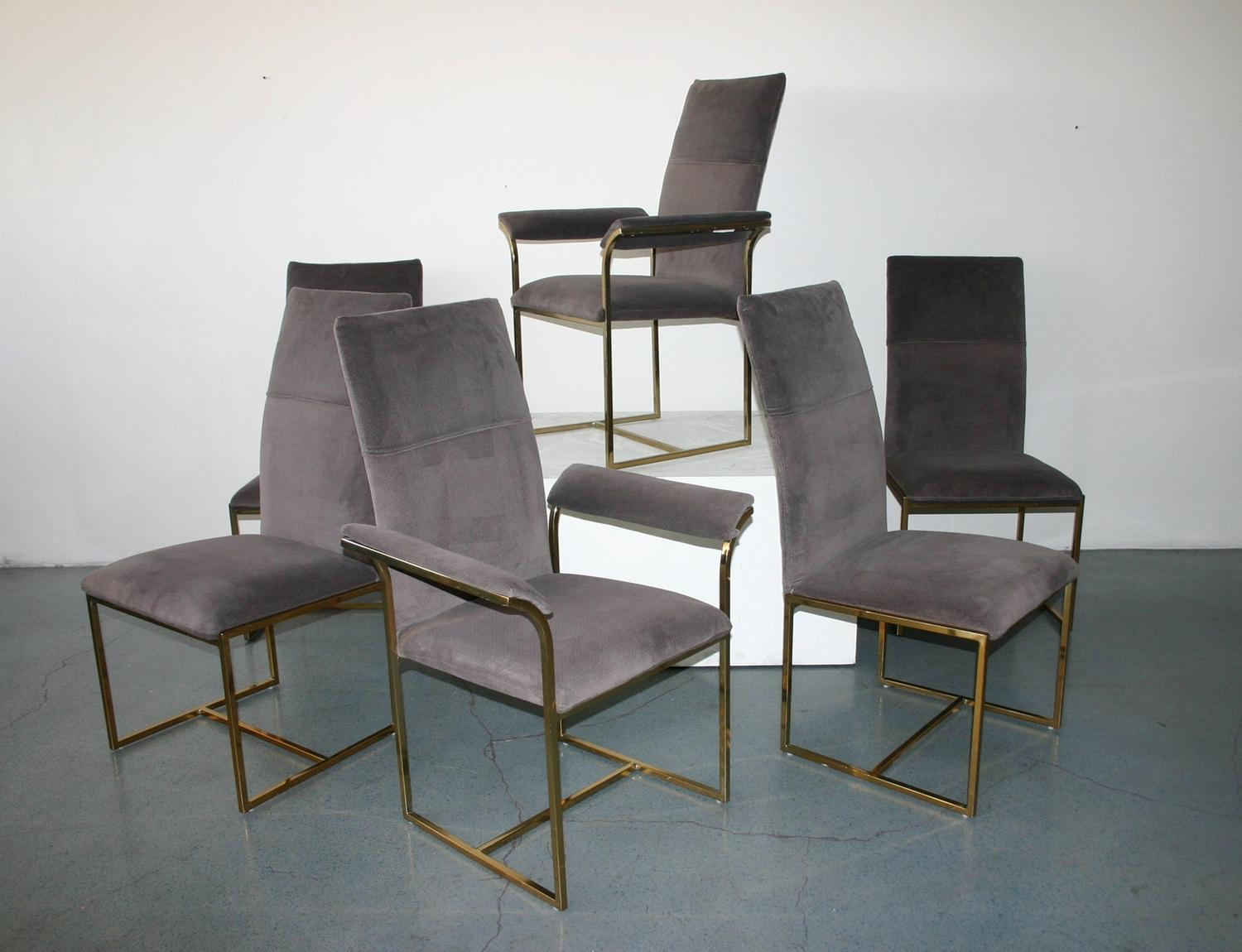 Incroyable Milo Baughman Dining Chairs, Set Of 6 C. 1950. Loading Zoom