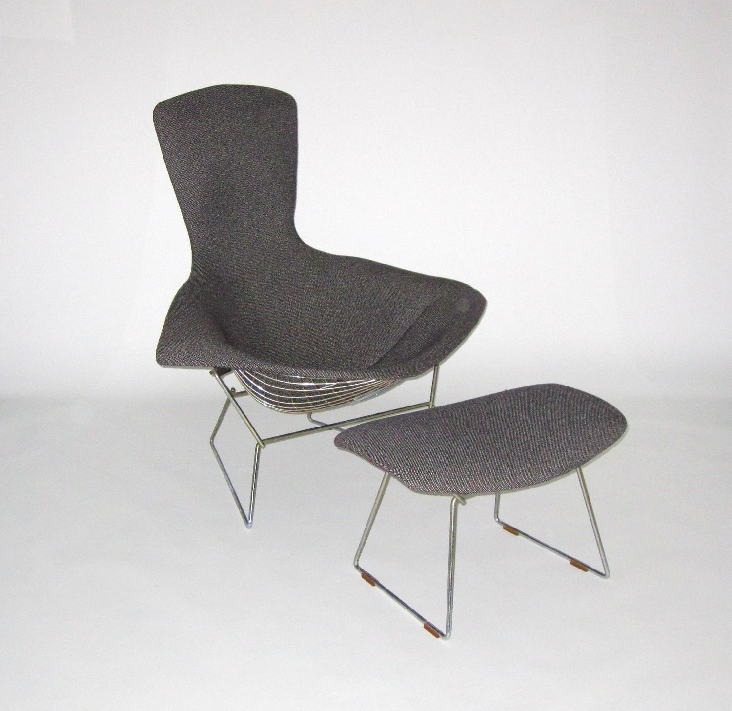 Harry Bertoia For Knoll Bird Chair With Ottoman C 1950
