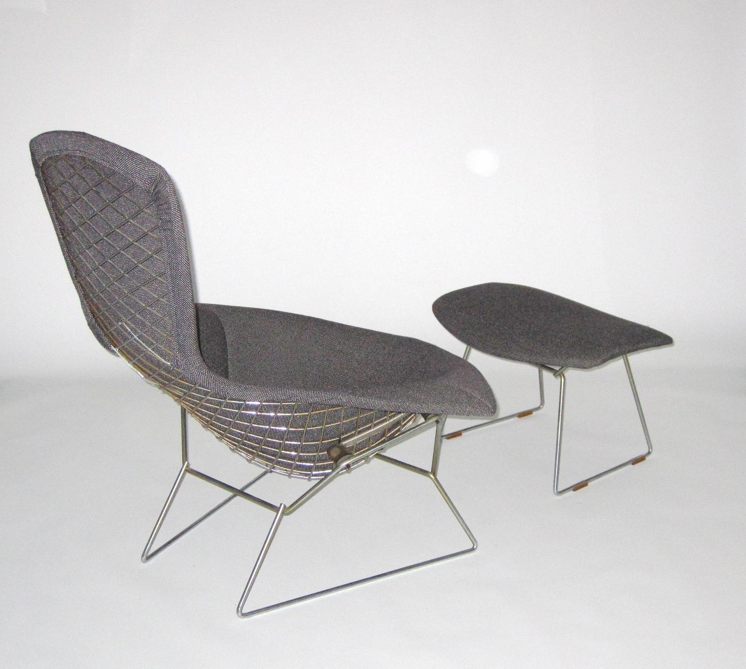 Harry Bertoia for Knoll: Bird chair with ottoman c. 1950
