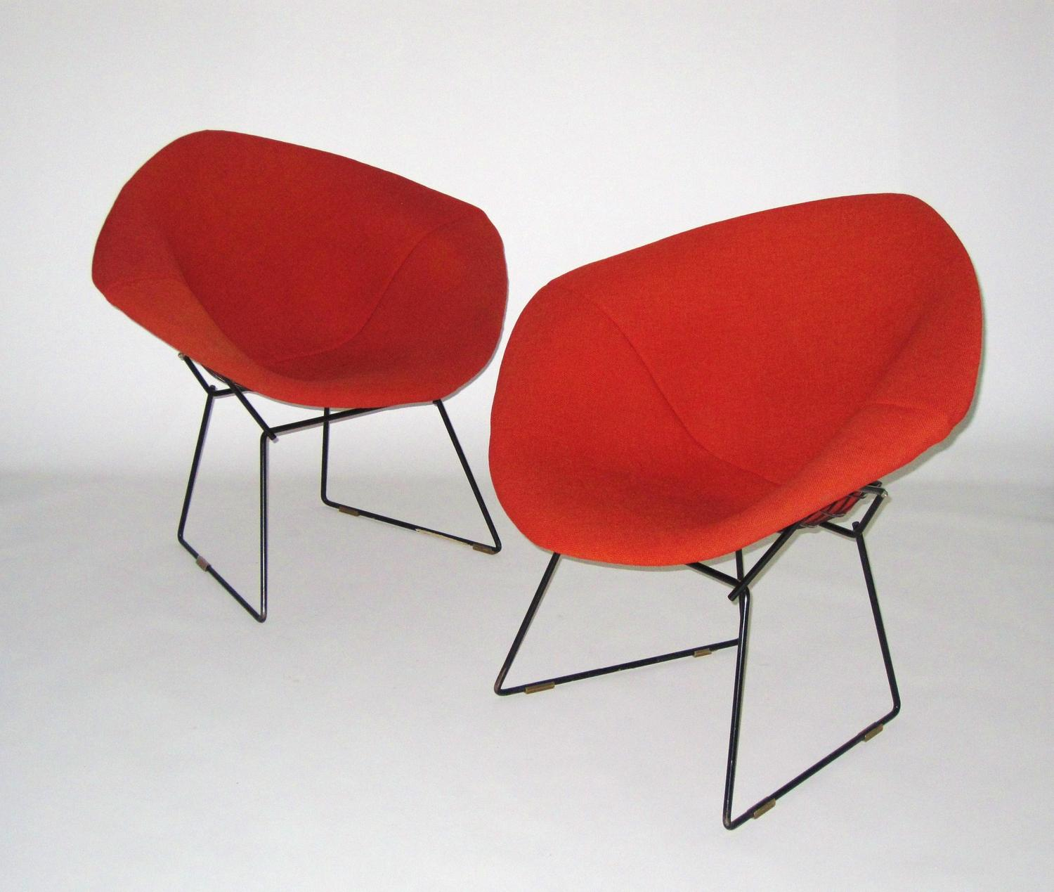 harry bertoia for knoll diamond chairs pair c 1950. Black Bedroom Furniture Sets. Home Design Ideas