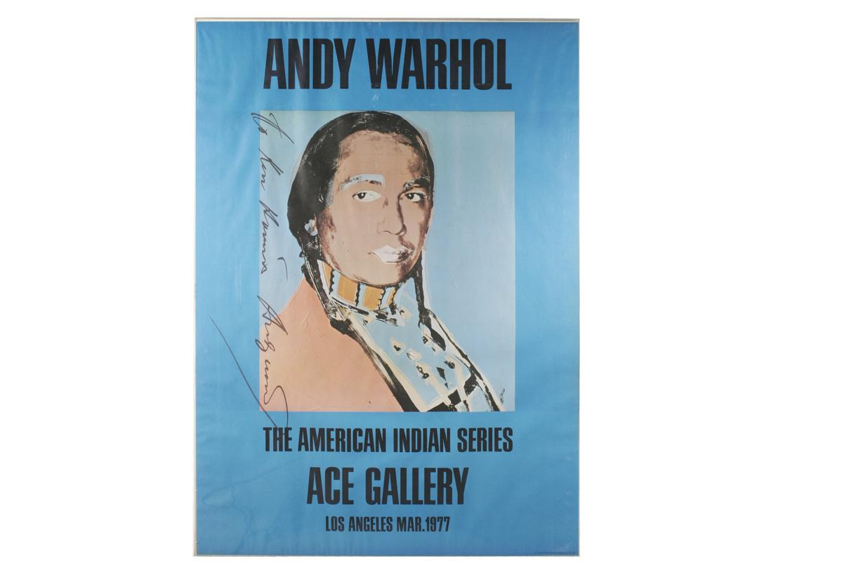 1977 100 dollar bill security features - Image 1 Andy Warhol American Indian Series 1977