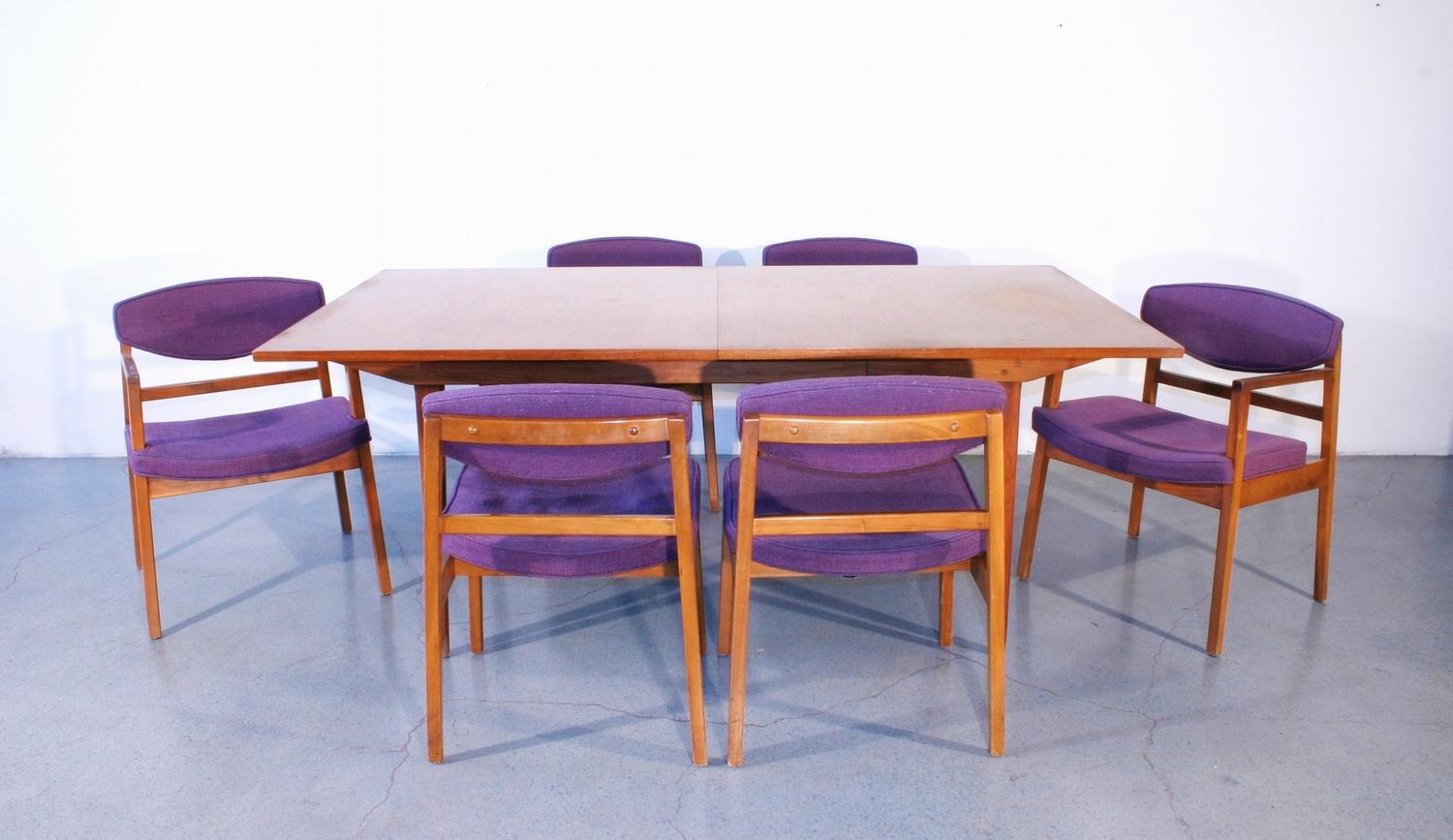 George nelson for herman miller dining table with chairs