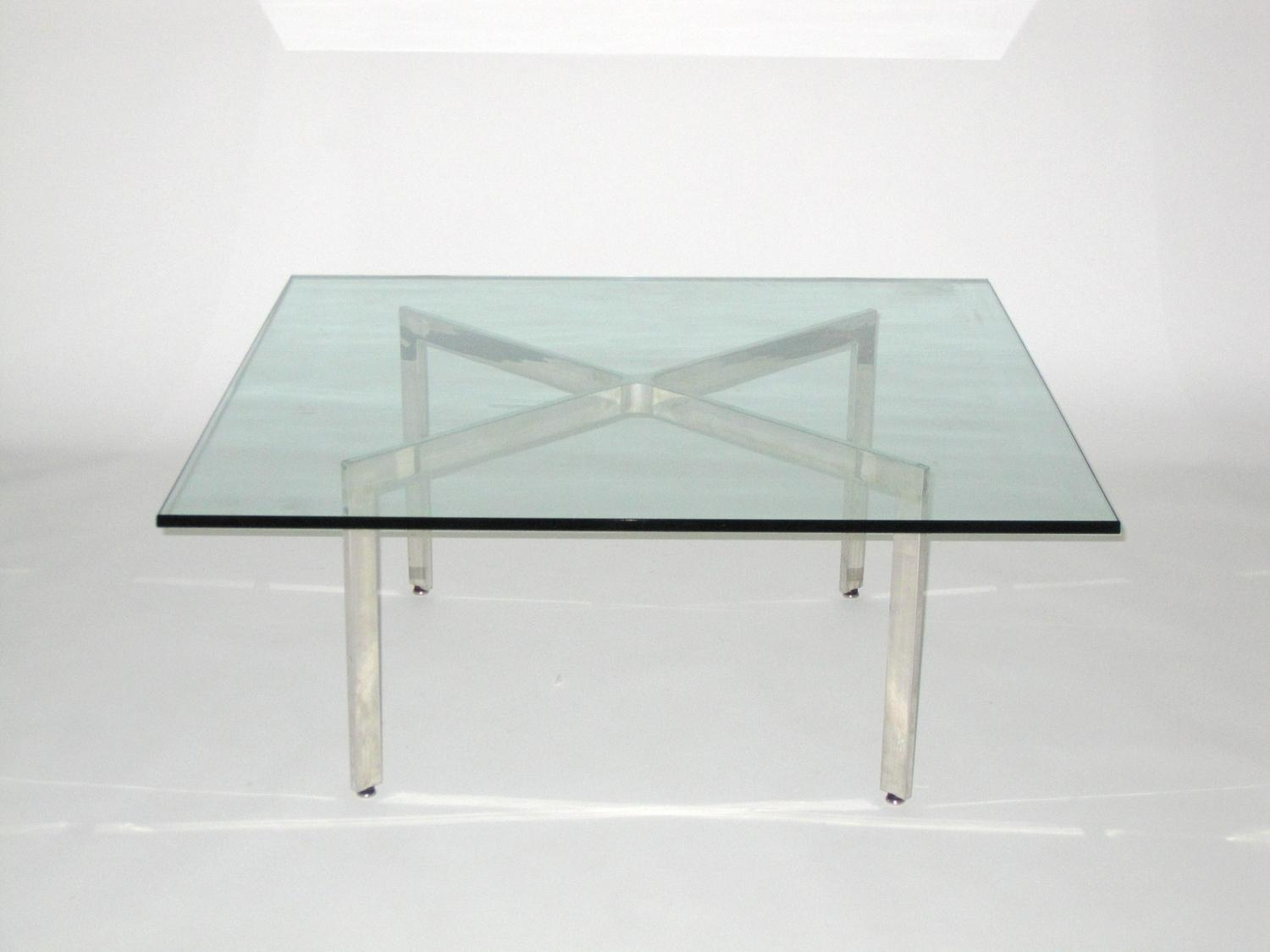Ludvig Mies Van Der Rohe Barcelona Style Coffee Table C 1950 Loading Zoom