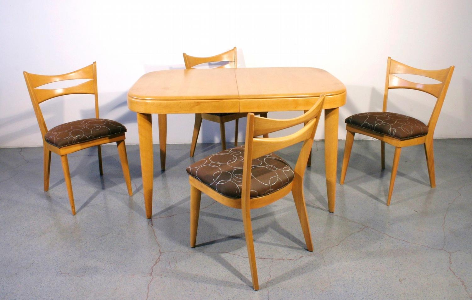 Attirant Heywood Wakefield Dining Set With 4 Chairs C. 1950. Loading Zoom