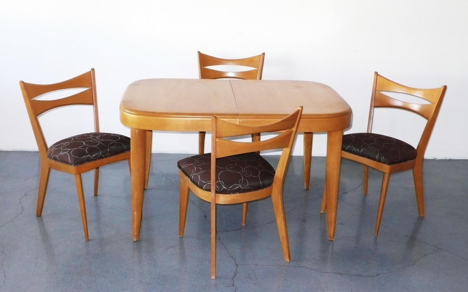 Merveilleux 1950 · Image 2 : Heywood Wakefield Dining Set With 4 Chairs C. 1950