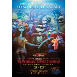 The Nightmare Before Christmas in Disney Digital 3-D lenticular one-sheet poster