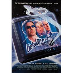 Galaxy Quest one-sheet poster signed by Sigourney Weaver