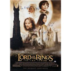 The Lord of the Rings: The Two Towers one-sheet poster signed by 10 principle cast members